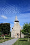 villaggio del francese della chiesa Immagine Stock