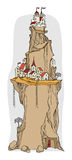 Villaggio del fumetto, fiaba Fotografie Stock