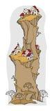 Villaggio del fumetto, fiaba Fotografia Stock