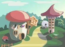 Villaggio del fungo Fotografia Stock Libera da Diritti