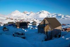 Villaggio del Inuit Immagini Stock Libere da Diritti