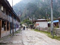 Villaggio del koto, Nepal Fotografia Stock Libera da Diritti