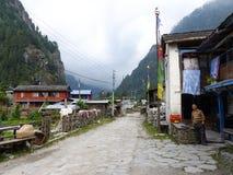 Villaggio del koto, Nepal Fotografie Stock Libere da Diritti