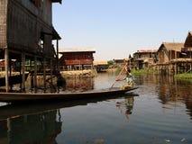 Villaggio del lago Inle Immagini Stock Libere da Diritti