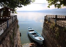 Villaggio del lago in Turchia Fotografia Stock