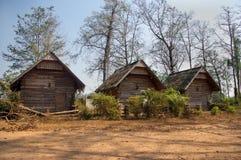 Villaggio del Laos sul fiume Mekong immagini stock libere da diritti