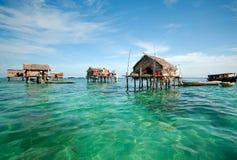 Villaggio del laut di Bajau Immagini Stock