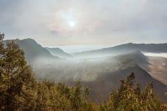 Villaggio del lawang di Cemoro al supporto Bromo in semeru del tengger di Bromo nazionale fotografie stock libere da diritti