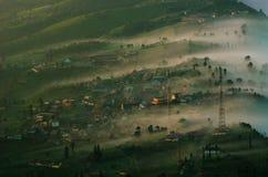 Villaggio del lawang di Cemoro al supporto di Bromo in Bromo Immagine Stock