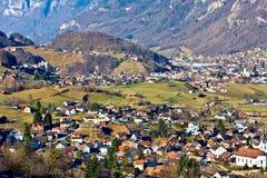 Villaggio del paese Fotografie Stock