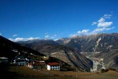 Villaggio del paese di Deqen, Cina Immagini Stock