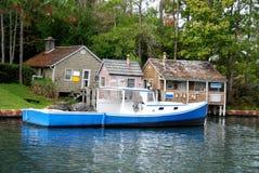 Villaggio del pescatore della Nuova Inghilterra Fotografia Stock Libera da Diritti