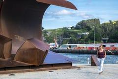 Villaggio del pescatore di Bermeo nella costa di Paese Basco Europ Fotografie Stock Libere da Diritti