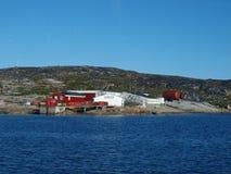 Villaggio del pescatore di Oqaatsut, Groenlandia Fotografie Stock