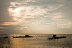 Villaggio del pescatore nel sud della Tailandia Fotografie Stock