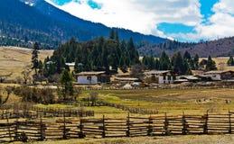 Villaggio del plateau fotografie stock