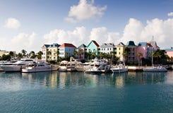 Villaggio del porticciolo all'isola di paradiso Fotografia Stock