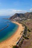 Villaggio del San Andres e spiaggia di Las Teresitas Fotografia Stock