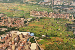 Villaggio del sobborgo della città di Canton Immagine Stock
