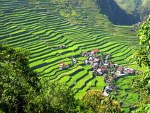 Villaggio del terrazzo del riso Immagini Stock Libere da Diritti