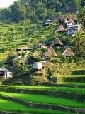 Villaggio del terrazzo del riso Fotografie Stock