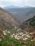 Villaggio del Tibet Immagine Stock