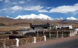 Villaggio del Tibet Immagine Stock Libera da Diritti