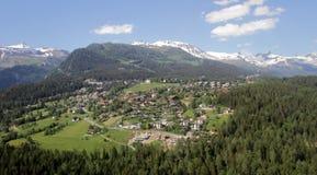Villaggio del Valais, Svizzera Immagini Stock
