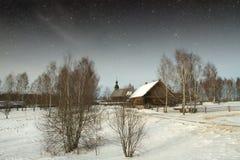 Villaggio del XVIII secolo autentico in Russia Elementi di questa immagine Immagine Stock Libera da Diritti