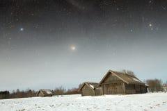 Villaggio del XVIII secolo autentico in Russia Elementi di questa immagine Fotografia Stock Libera da Diritti
