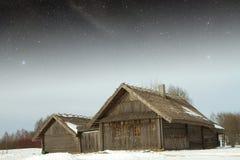 Villaggio del XVIII secolo autentico in Russia Elementi di questa immagine Fotografie Stock Libere da Diritti