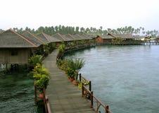 Villaggio dell'acqua di Sipidan Immagine Stock Libera da Diritti