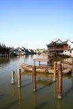 Villaggio dell'acqua di Zhouzhuang Fotografia Stock Libera da Diritti