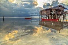 Villaggio dell'acqua, Patau-patau nessun Alba 2 Fotografie Stock Libere da Diritti