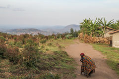 Villaggio dell'Africano del Burundi Fotografia Stock