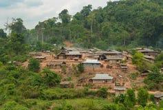 Villaggio dell'alpinista di Hmong Fotografie Stock