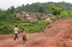 Villaggio dell'alpinista di Hmong Fotografia Stock Libera da Diritti