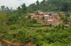 Villaggio dell'alpinista di Hmong Fotografia Stock
