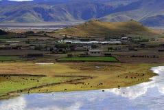 Villaggio dell'altopiano Fotografie Stock Libere da Diritti