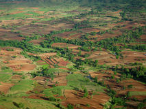 Villaggio dell'indiano dei campi di risaia Immagine Stock Libera da Diritti
