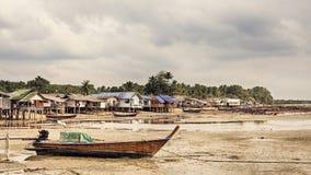 Villaggio dell'industria della pesca Fotografia Stock Libera da Diritti