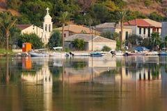 Villaggio dell'isola di Lefkada Immagine Stock