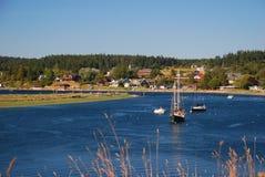 Villaggio dell'isola di Lopez, Washigton, S.U.A. Immagine Stock