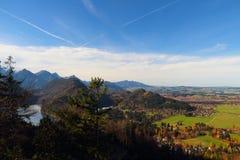 Villaggio della Baviera in Germania Fotografie Stock