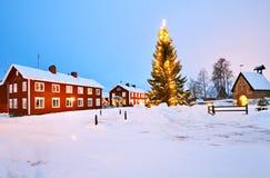 Villaggio della chiesa di Gammelstad Fotografia Stock Libera da Diritti