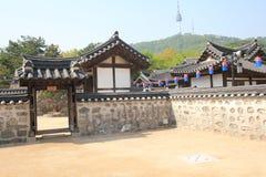 Villaggio della Corea del Sud nelle gente di Seoul Fotografia Stock Libera da Diritti