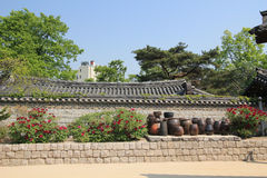 Villaggio della Corea del Sud nelle gente di Seoul Fotografia Stock