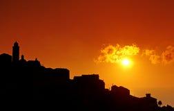 Villaggio della Corsica Immagine Stock Libera da Diritti