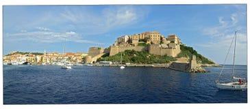 Villaggio della Corsica (Francia) Fotografia Stock
