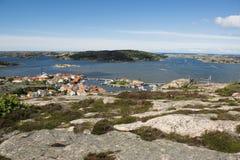 Villaggio della costa, Fjallbacka fotografie stock libere da diritti